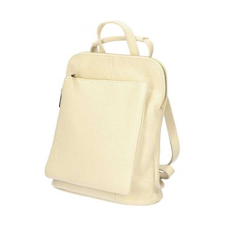 Dámsky kožený batoh MI899 béžový Made in Italy
