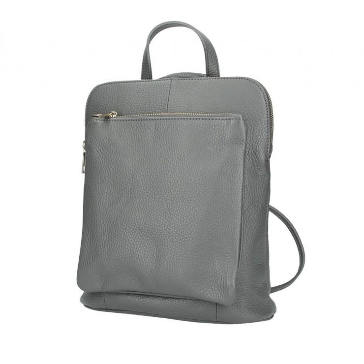 Dámsky kožený batoh MI899 tmavošedý Made in Italy