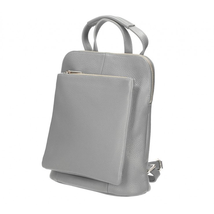 Leather backpack MI899 gray Made in Italy