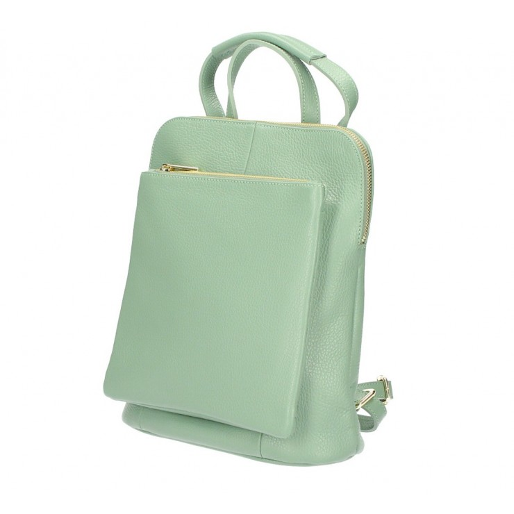 Leather backpack MI899 mint Made in Italy
