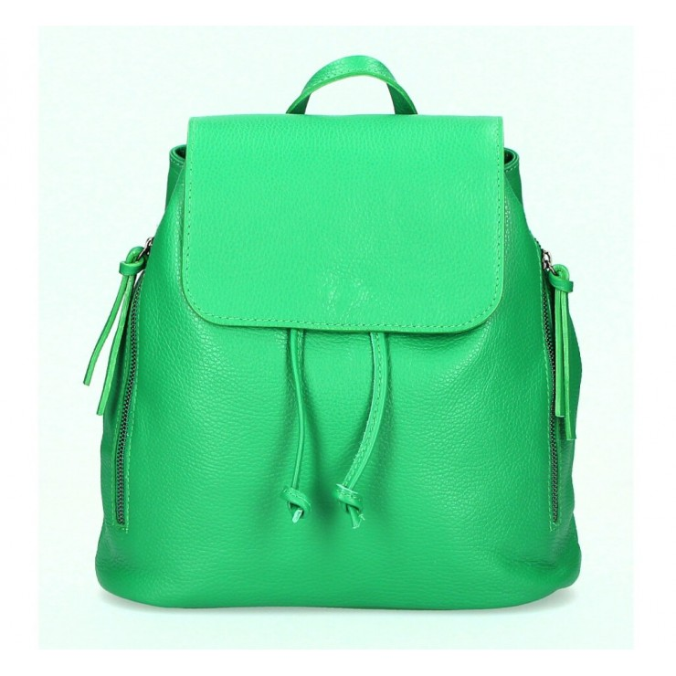Leather backpack 420 green Made in Italy