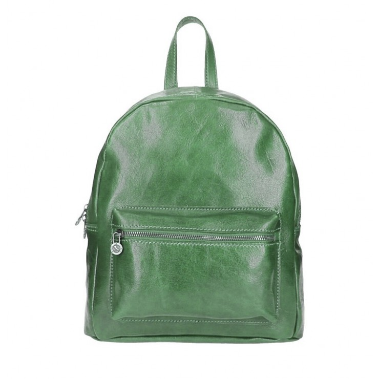 Leather backpack 5340 green Made in Italy