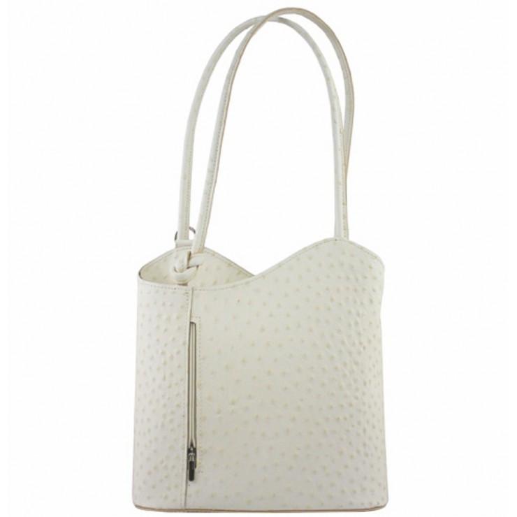 Kožená kabelka na rameno/batoh 1260 béžová Made in Italy