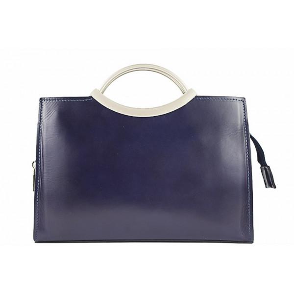 Talianska kožená kabelka 90 modrá