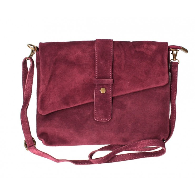 Genuine Leather Handbag 442 bordeaux Made in Italy