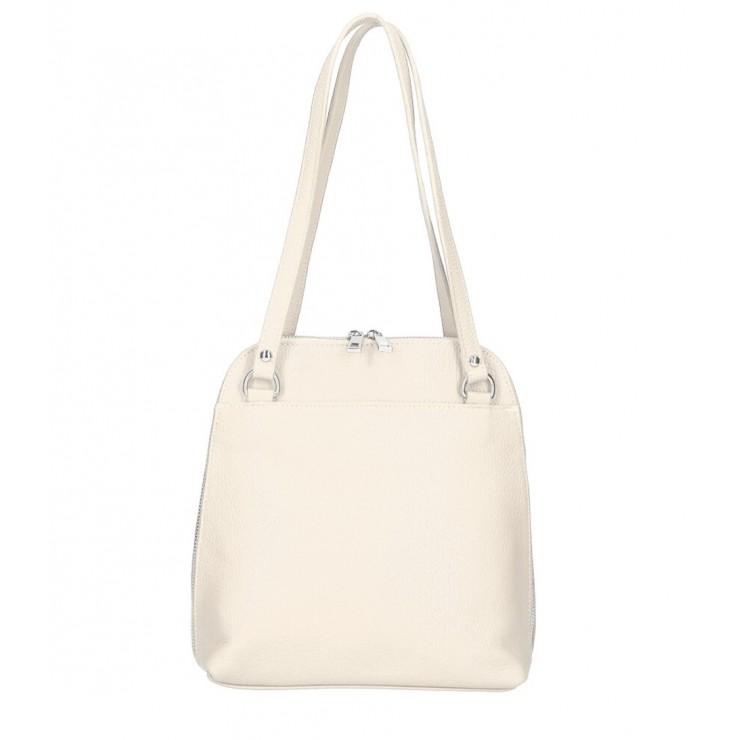 Leather shoulder bag/Backpack MI38 beige Made in Italy