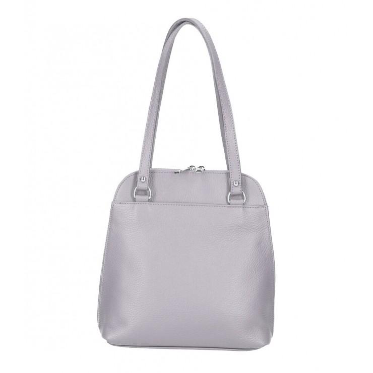 Kožená kabelka na rameno/batoh MI38 šedá Made in Italy