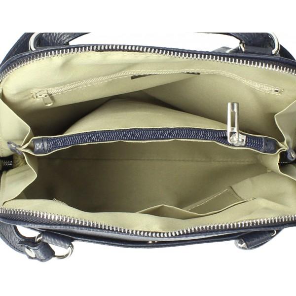 Kožená kabelka na rameno/batoh MI38 šedohnedá Made in Italy Šedohnedá