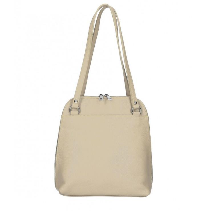 Kožená kabelka na rameno/batoh MI38 šedohnedá Made in Italy