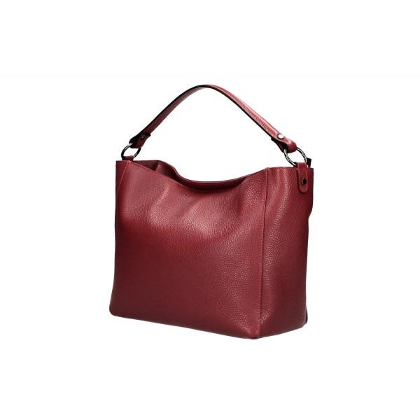 Kožená kabelka 1268 svetlofialová Made in Italy Fialová