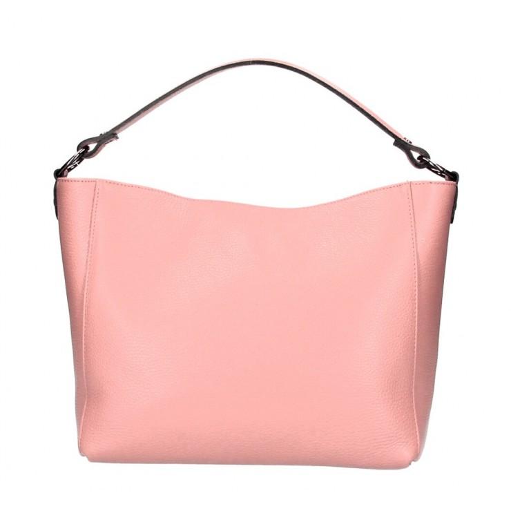 Genuine Leather Handbag 1268 salmon Made in Italy