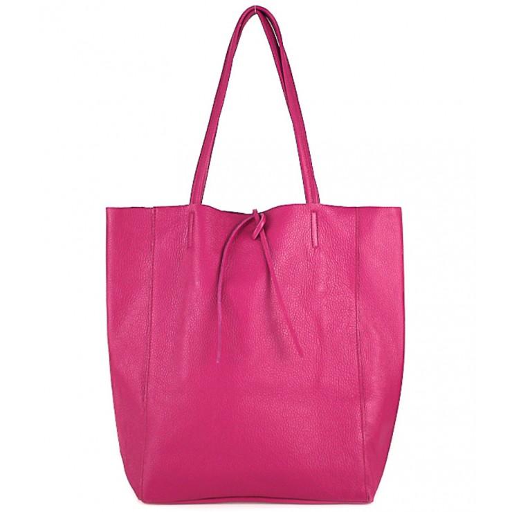 Genuine Leather Maxi Bag 396 fuxia