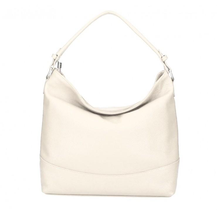 Genuine Leather Handbag MI96 beige Made in Italy
