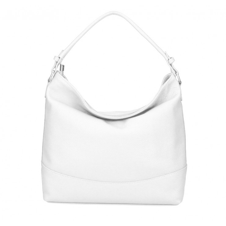 Genuine Leather Handbag MI96 white Made in Italy