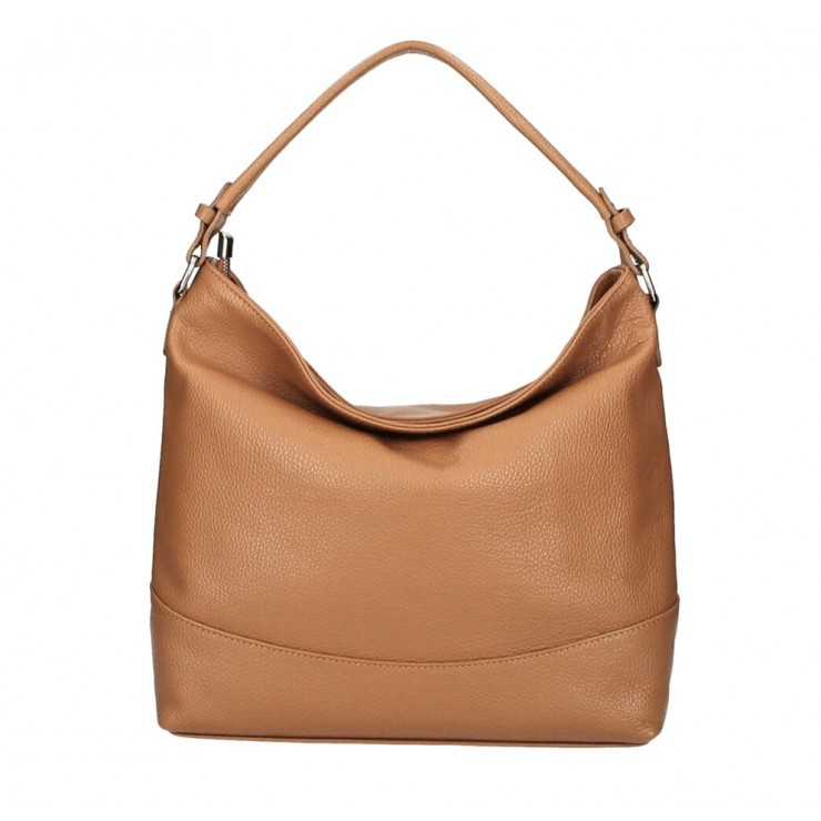 Genuine Leather Handbag MI96 cognac Made in Italy