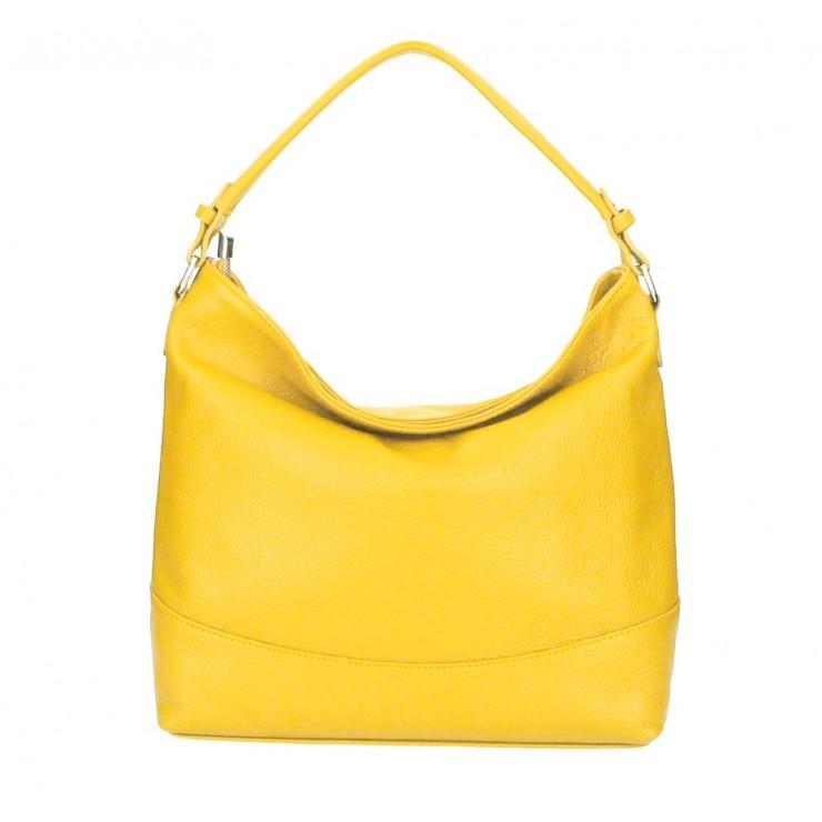 Genuine Leather Handbag MI96 yellow Made in Italy