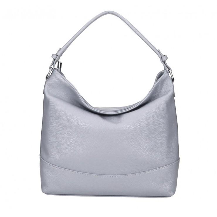 Genuine Leather Handbag MI96 gray Made in Italy