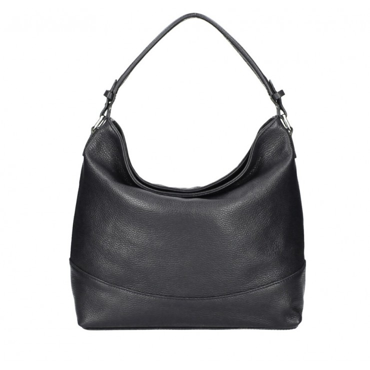 Genuine Leather Handbag MI96 black Made in Italy