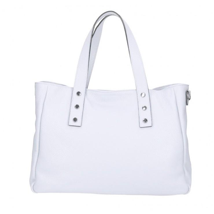 Genuine Leather Handbag MI97 white Made in Italy