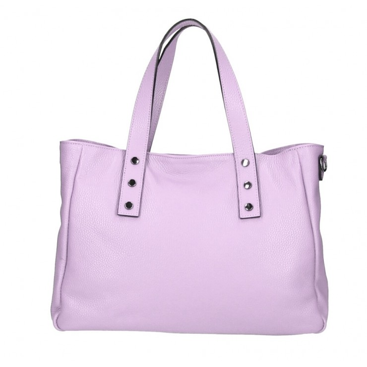 Genuine Leather Handbag MI97 purple Made in Italy