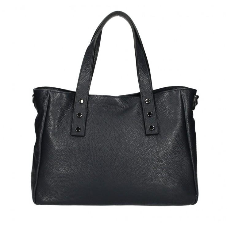 Genuine Leather Handbag MI97 black Made in Italy