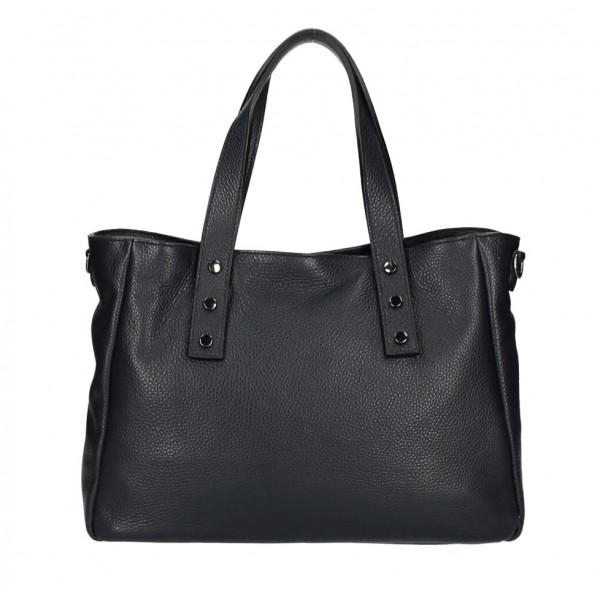Kožená kabelka MI97 čierna Made in Italy Čierna