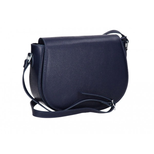Kožená kabelka na rameno MI102 tmavomodrá Modrá