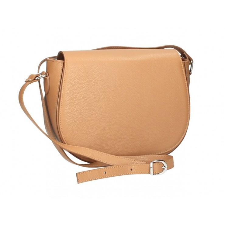 Genuine shoulder bag MI102 cognac