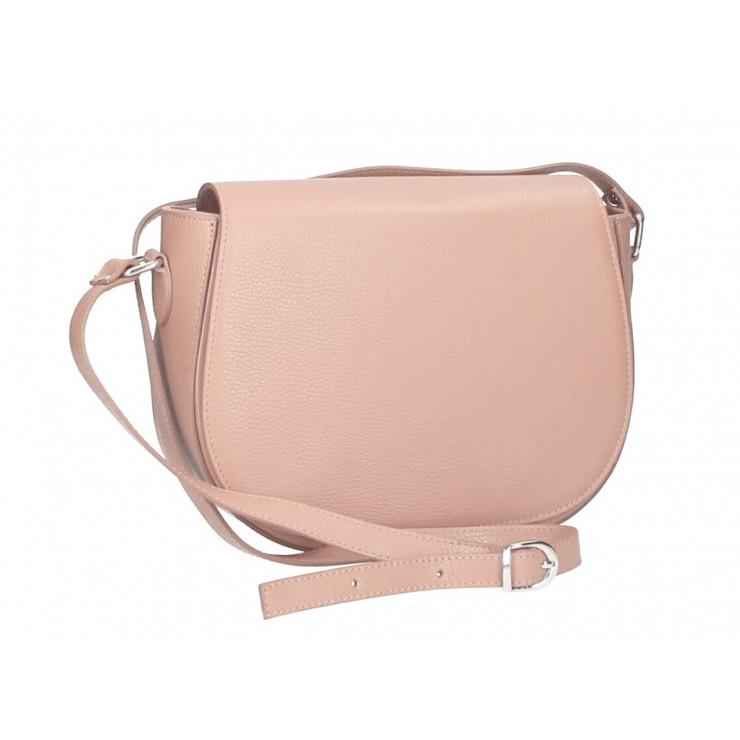 Genuine shoulder bag MI102 dark pink
