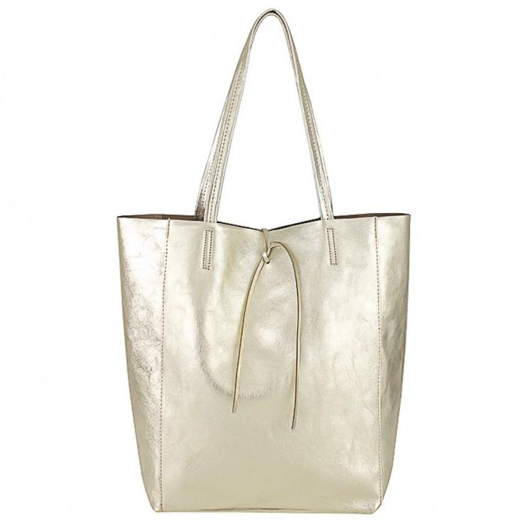 Genuine Leather Maxi Bag 396 gold