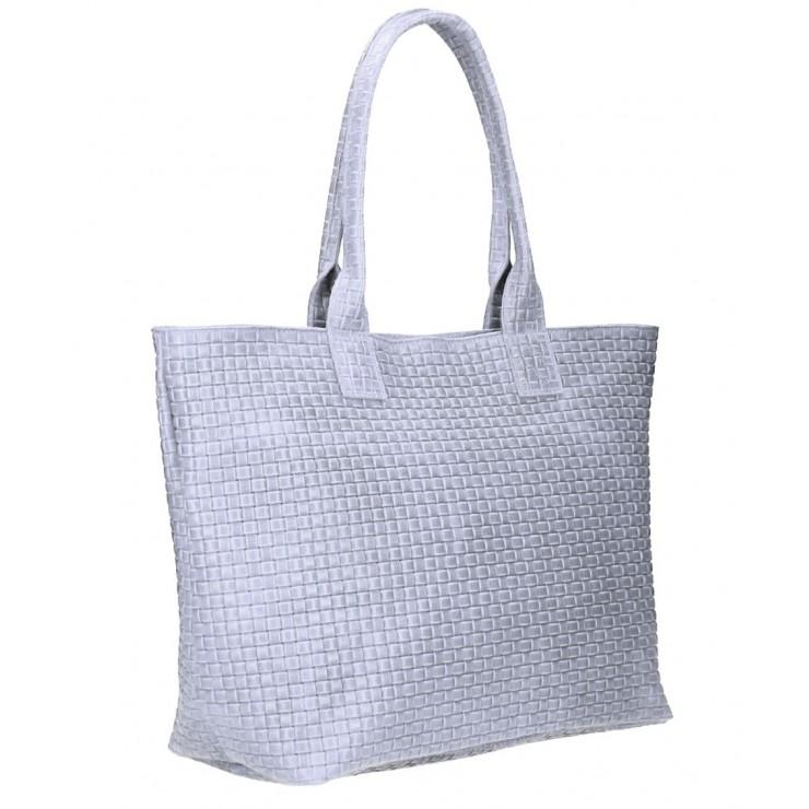 Genuine Leather Maxi Bag MI111 gray