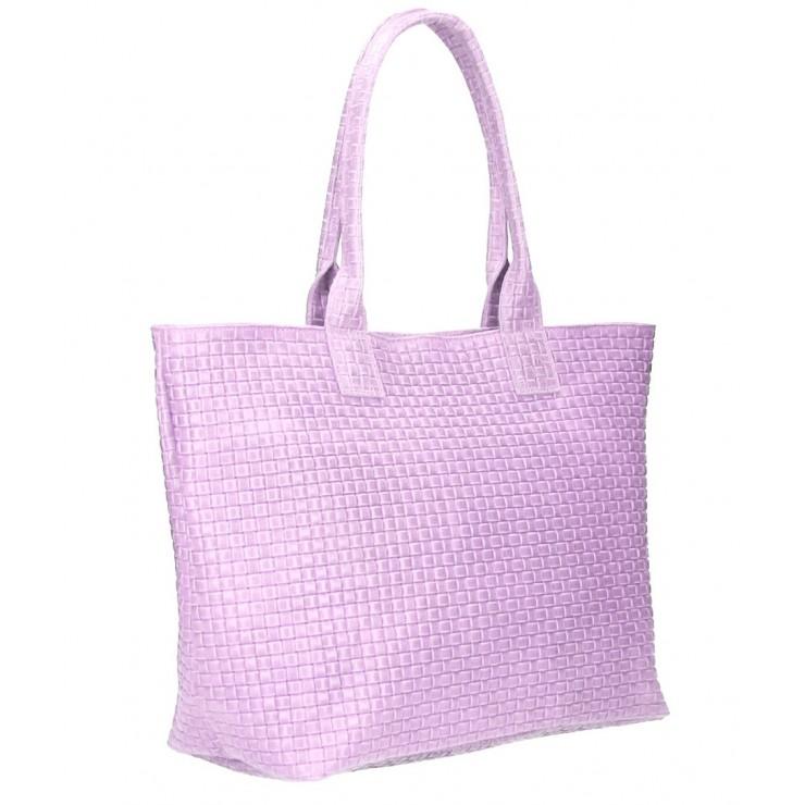 Genuine Leather Maxi Bag MI111 purple