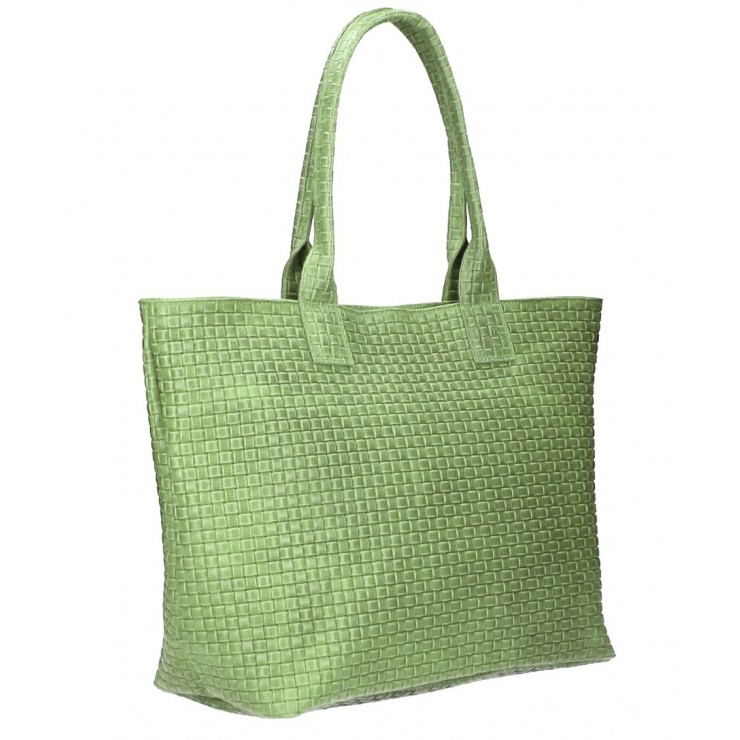Genuine Leather Maxi Bag MI111 mint