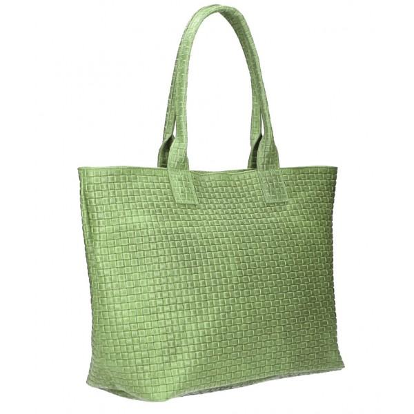Kožená kabelka Maxi MI111 mätová Mäta