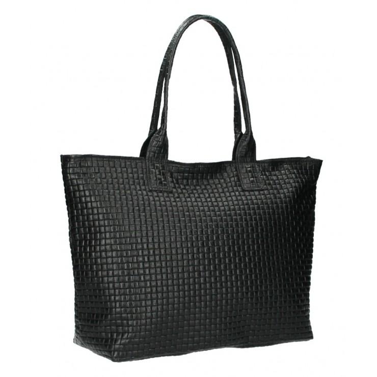 Kožená kabelka Maxi MI111 černá