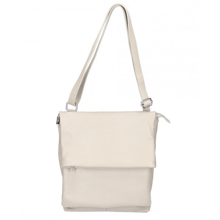 Genuine Leather Shoulder Bag MI104 beige