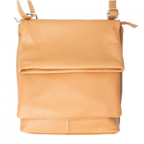 Kožená kabelka na rameno MI104 čierna Čierna