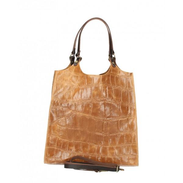 Kožená kabelka na rameno 144 okrová Okrová