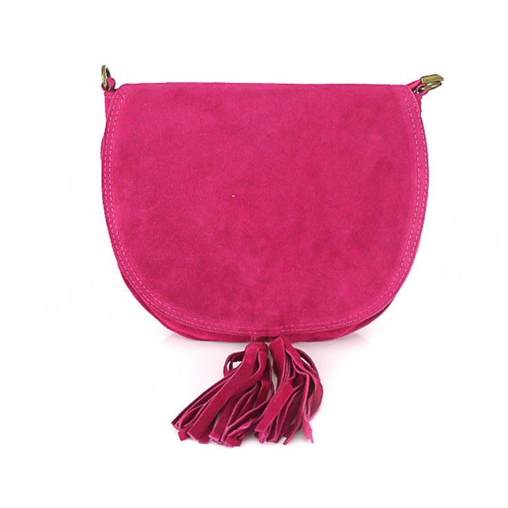 Genuine Leather Handbag 703 fuxia