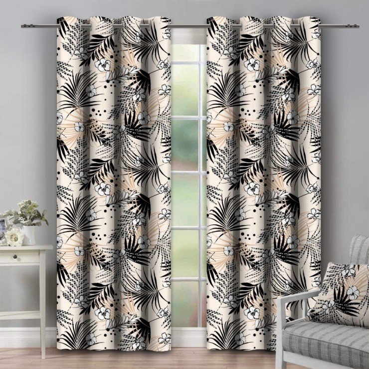 Curtain on rings 140x250 cm beige
