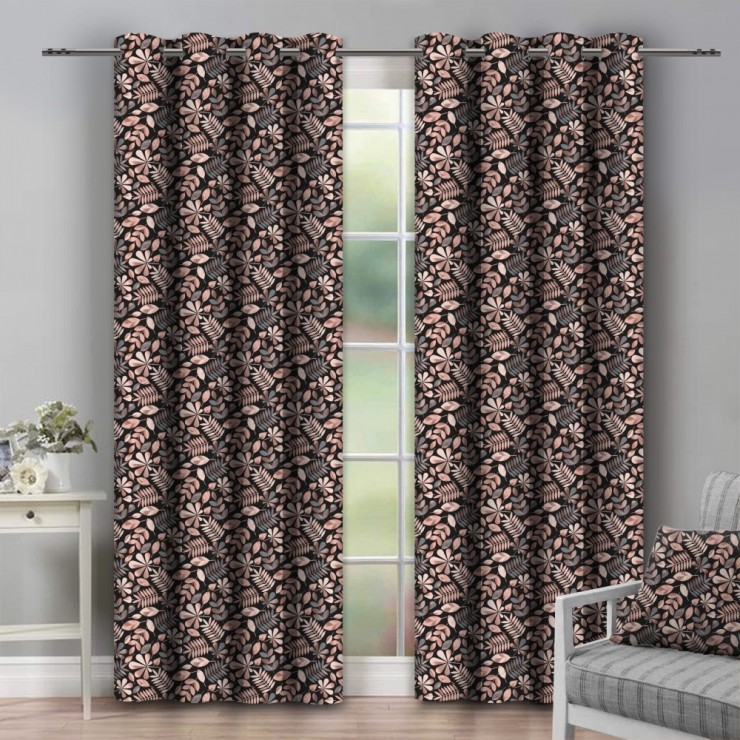 Curtain on rings 140x250 cm black