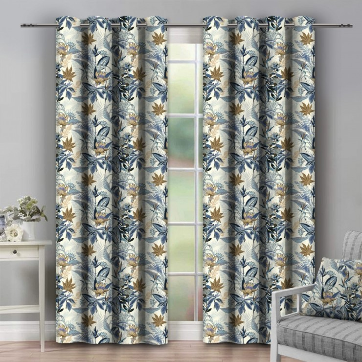 Curtain on rings 140x250 cm cream