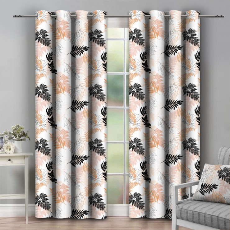 Curtain on rings 140x250 cm orange