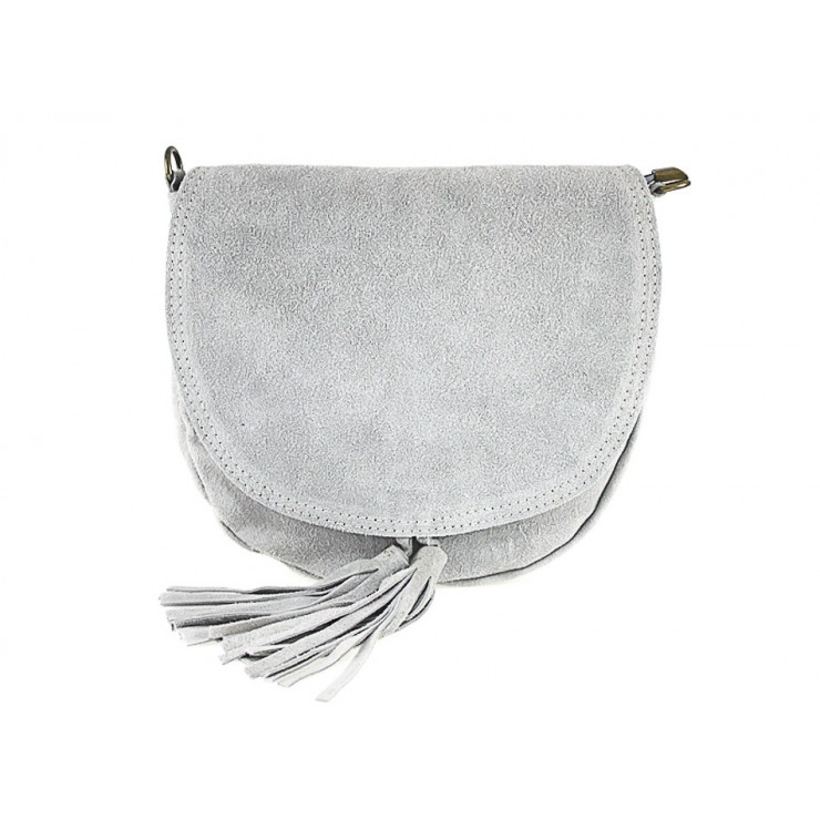 Genuine Leather Handbag 703 gray