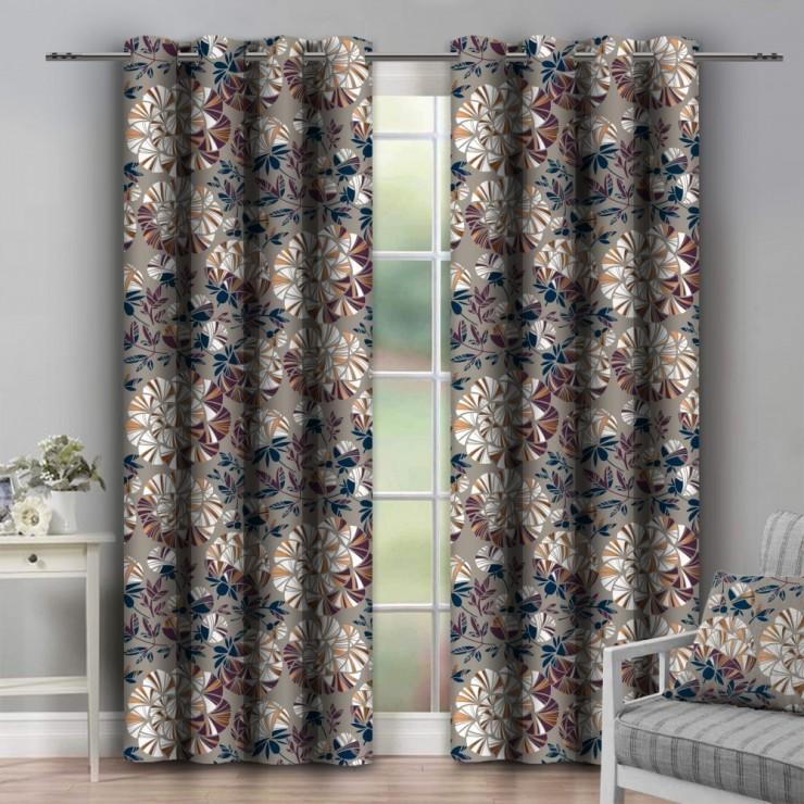Curtain on rings 140x250 cm dark beige