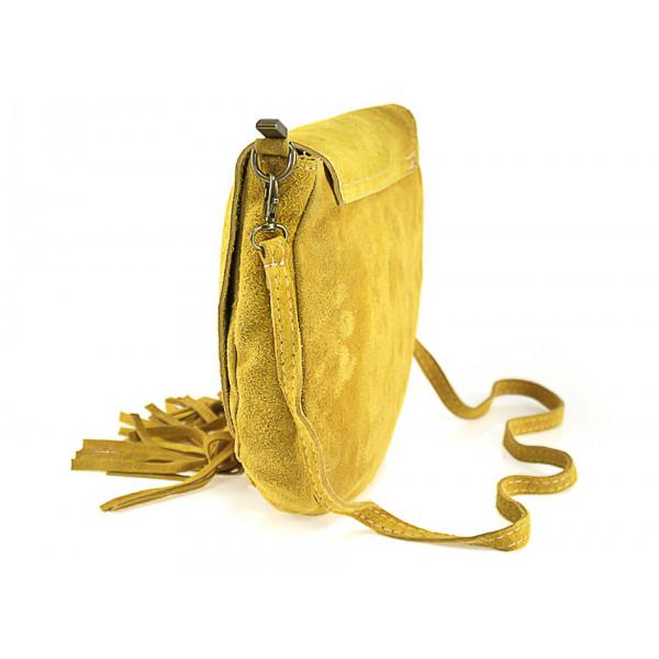 Kožená kabelka na rameno 703 šedá