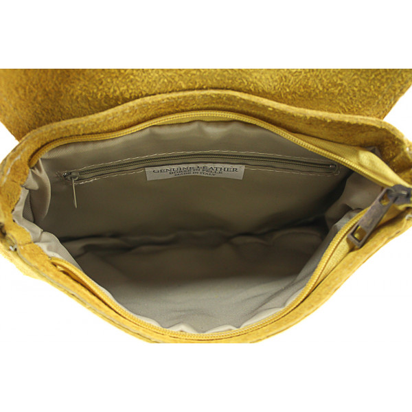 Kožená kabelka na rameno 703 jeans