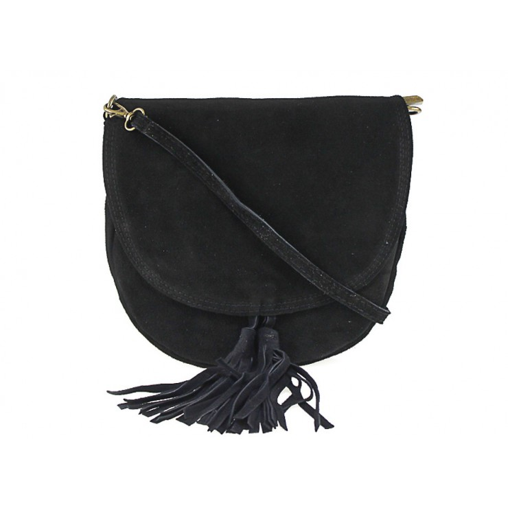 Genuine Leather Handbag 703 black