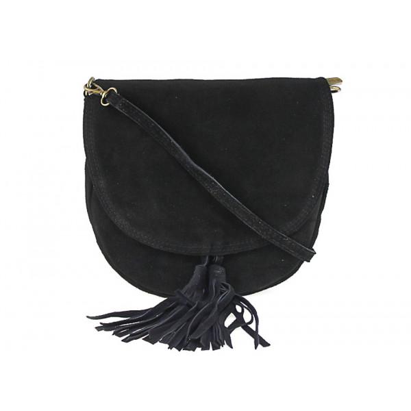 Genuine Leather Handbag 703 black