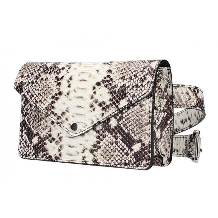 Leather Waist Bag/Messenger Bag 5303 taupe
